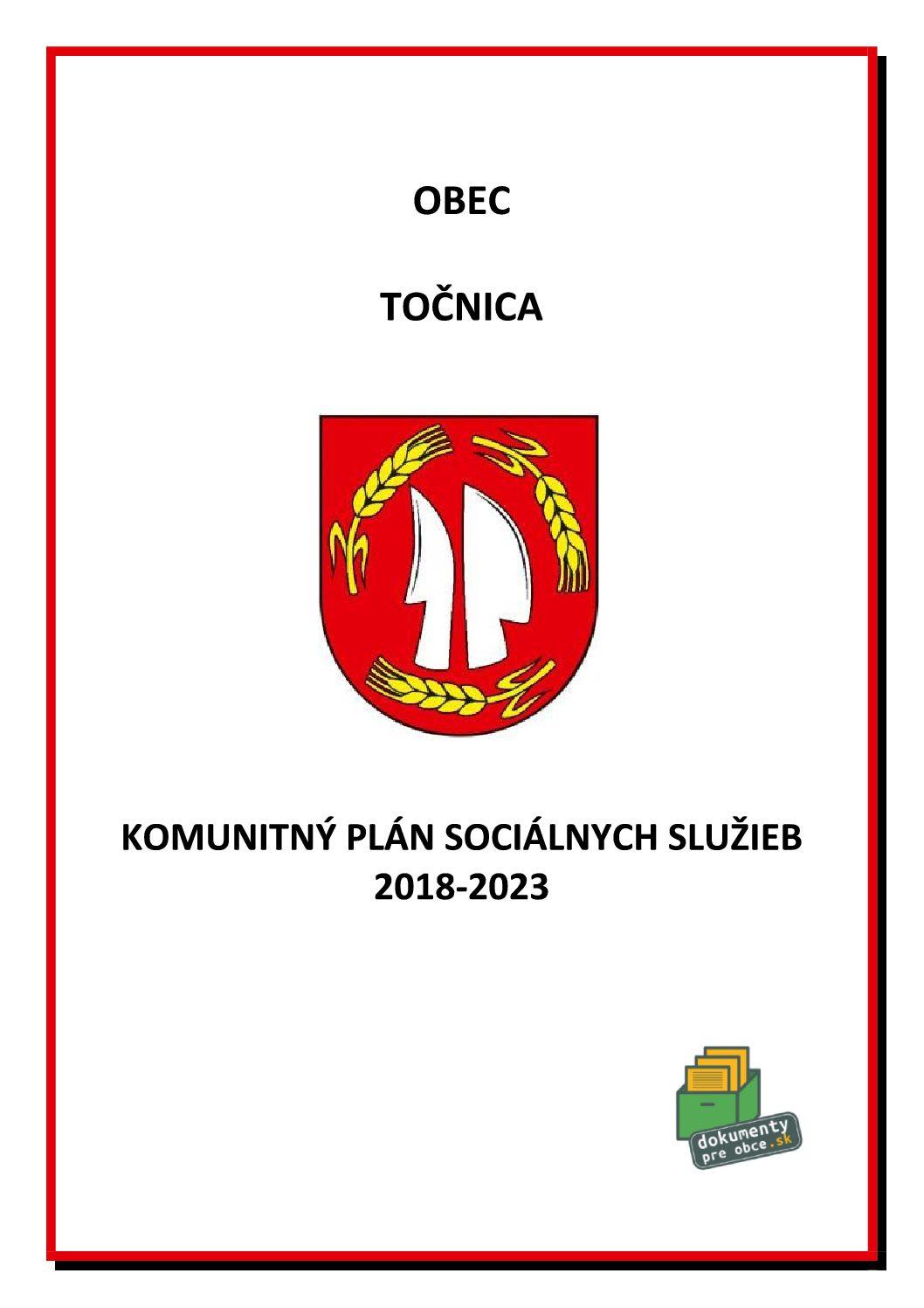KOMUNITNÝ PLÁN SOCIÁLNYCH SLUŽIEB 2018-2023